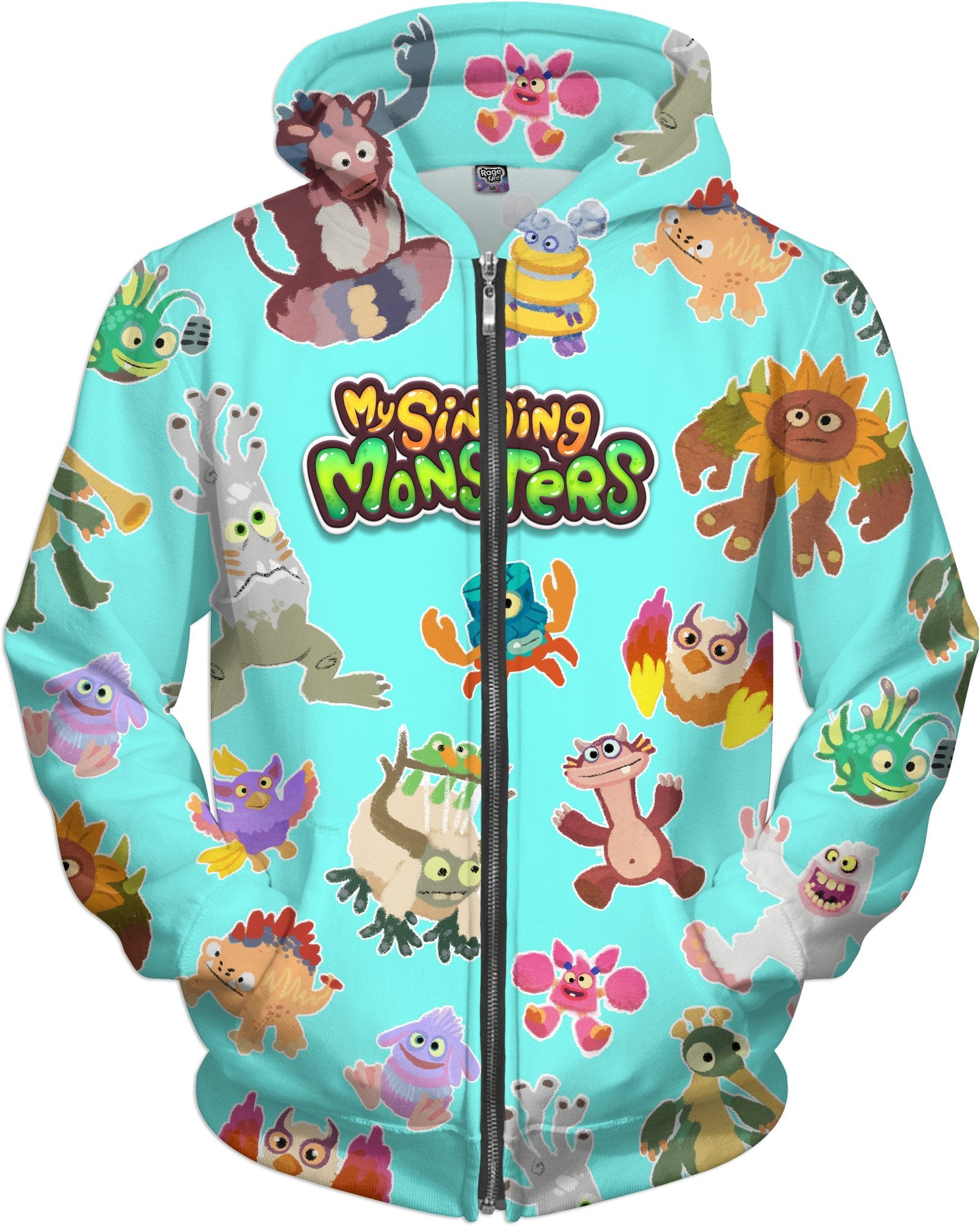 My Singing Monsters Cave Painting Zip-Up Hoodie