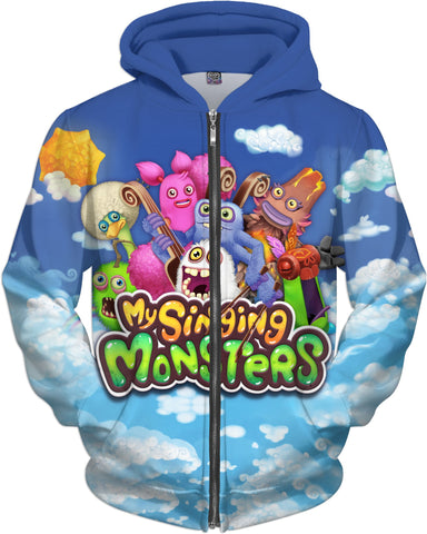 My Singing Monsters Zip-Up Hoodie