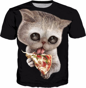 CAT LOVES PIZZA T-Shirt