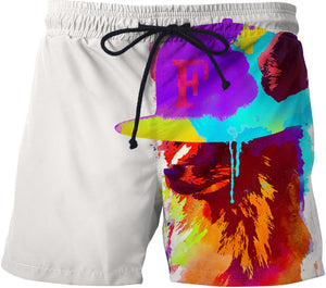 Foxey's favorite cap Swim Trunks