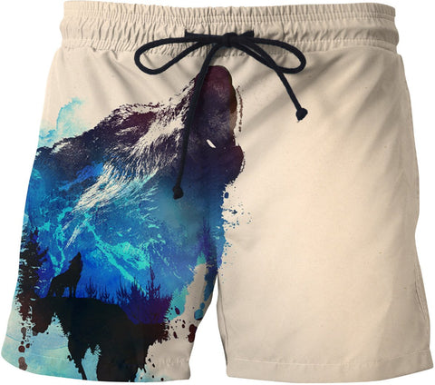 Alone as a wolf Swim Trunks