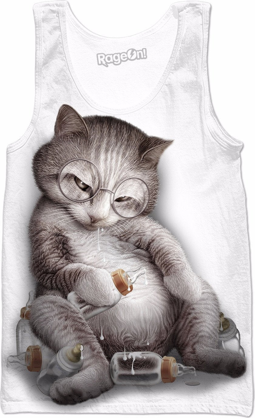 DRUNK CAT Tank Top