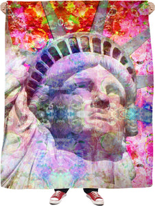 Neon Liberty 2 Fleece Blanket