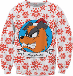 Festive Doggy Crewneck Sweatshirt
