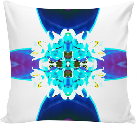 Blue Flower Reflect Couch Pillow