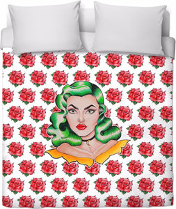 Miss Rose Deluxe Duvet Cover