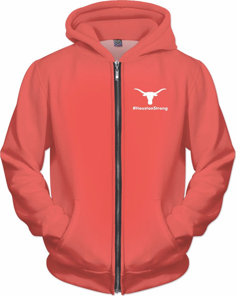 I Support Houston Peach Zip-Up Hoodie