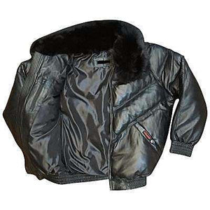 JOHAR - V BOMBER LEATHER JACKET