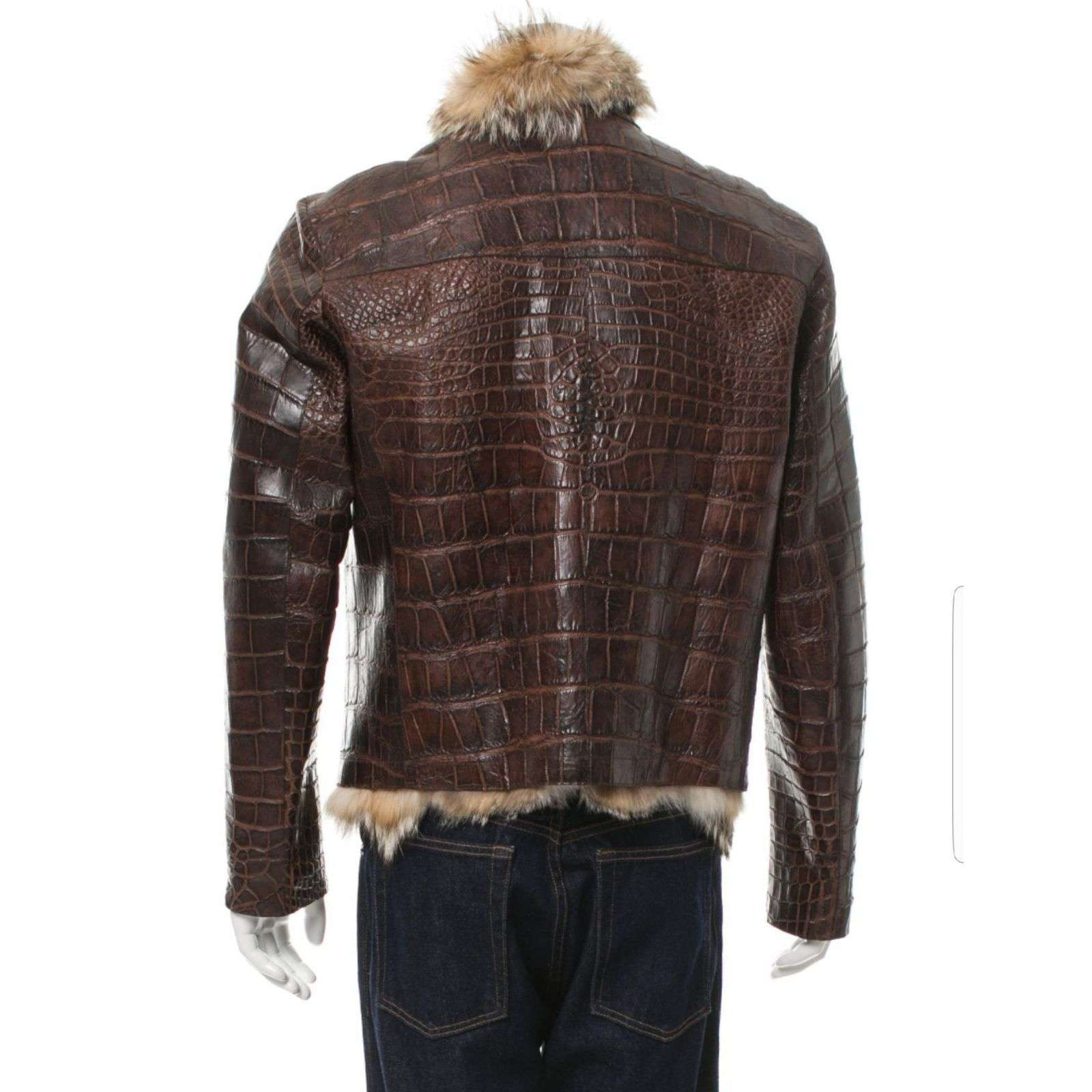 MAGARMUCH - FUR LINED ALLIGATOR BIKER JACKET