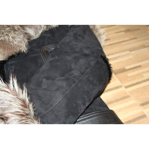 SUBHA - THE BLACK SUEDE SHEARLING