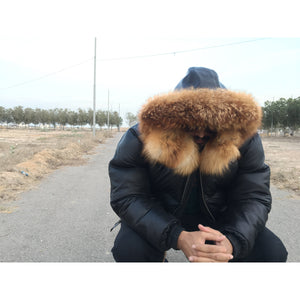 ATTABAD - THE BUBBLE BOMBER FOX TRIM HOODIE