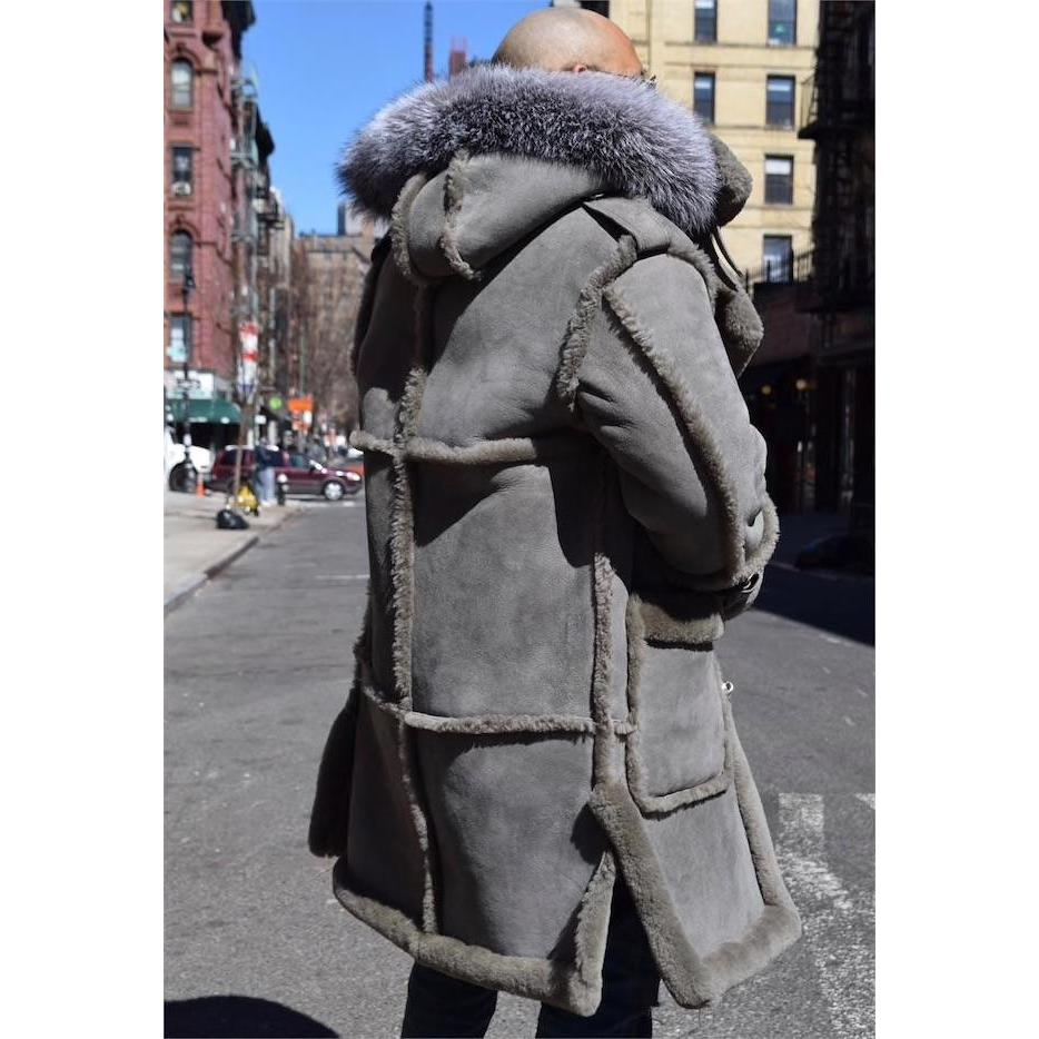 SAMBA - THE GREY 3/4 SHEEPSKIN COAT