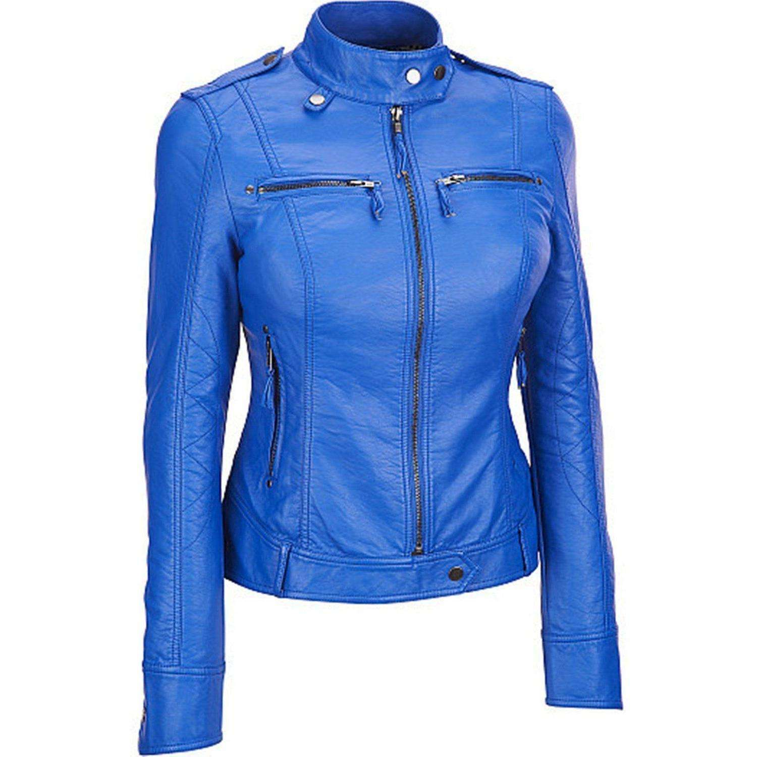 ISHKOMAN - BLUE CAFE RACER JACKET