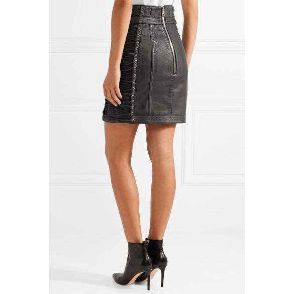 BADSHAHI - LACE UP TEXTURED MINI SKIRT