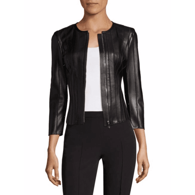 BALTI - FAUX LEATHER MOTO JACKET