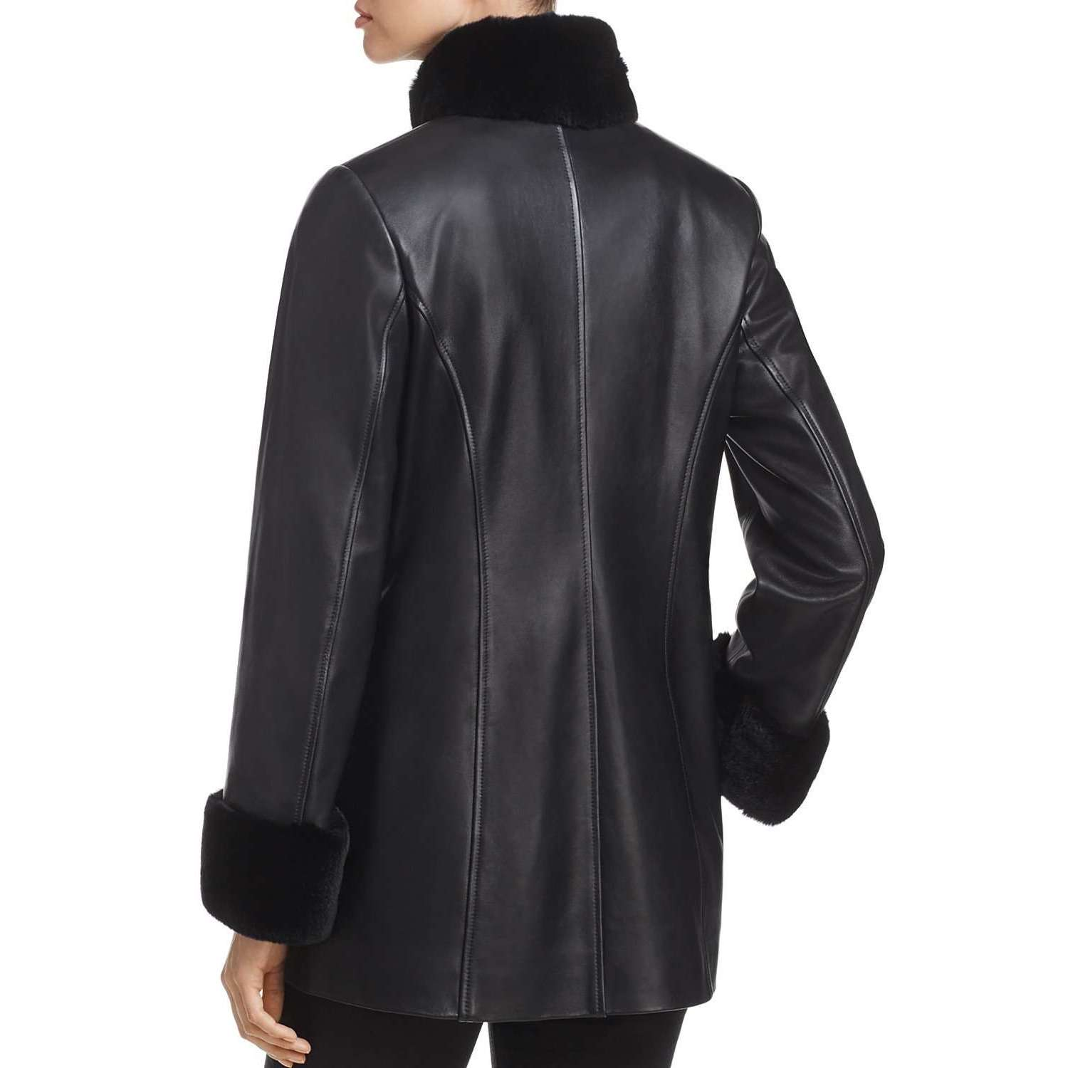 CHOWKANDI - FUR COLLAR LEATHER JACKET