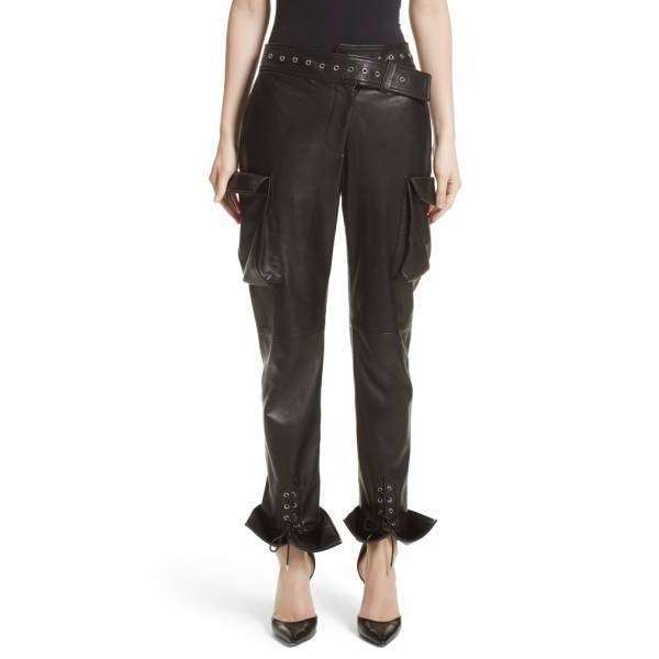 CHOWKANDI - LEATHER CARGO PANTS