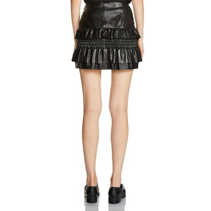 KALAM - SMOCKED RUFFLE MINI SKIRT