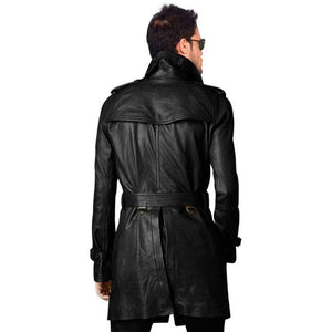 SARGI - RAGLAN SLEEVED LEATHER TRENCH