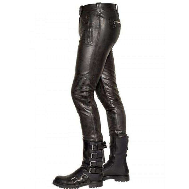 SHEHANSHAH - UNPREDICTABLE PLUCK LEATHER PANTS