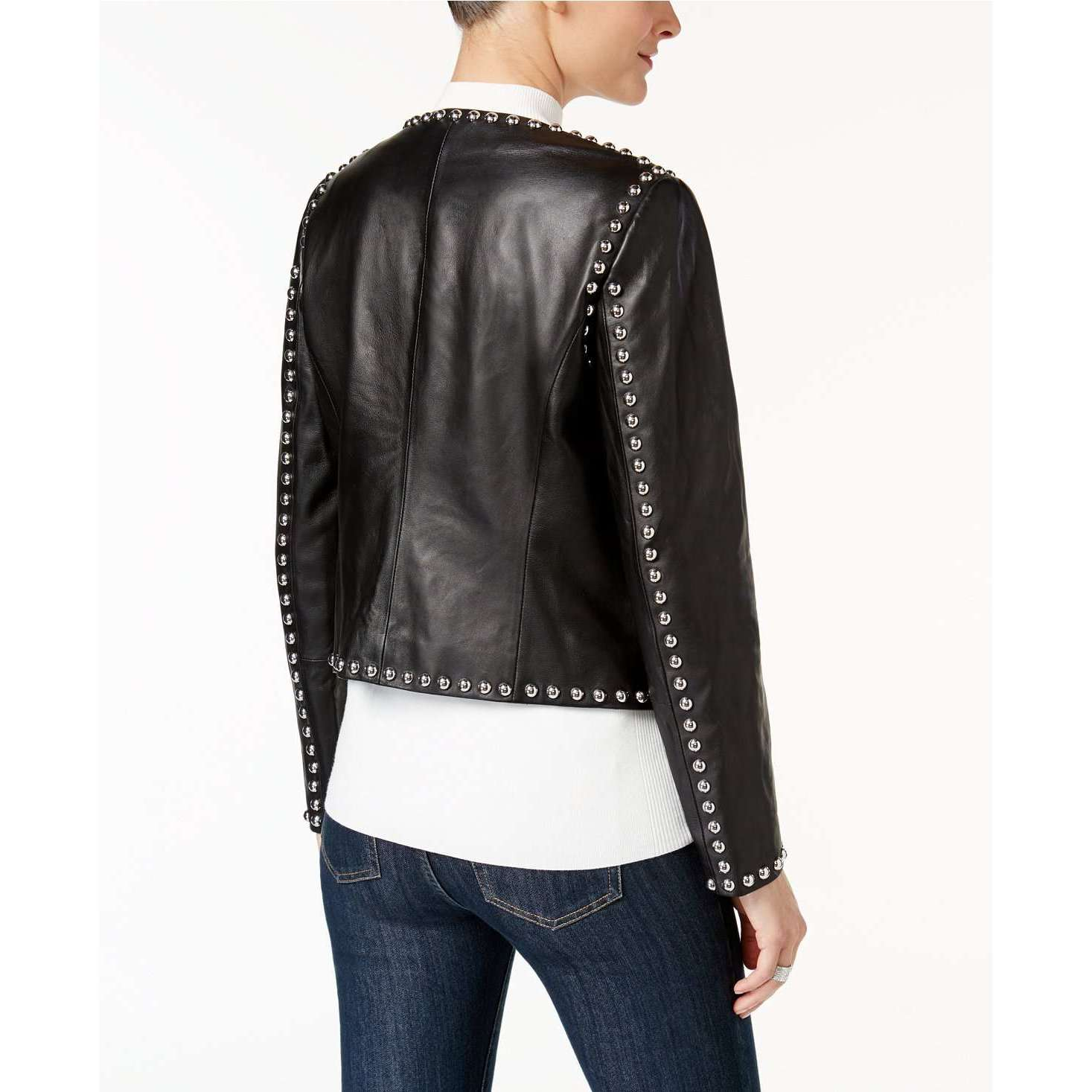 TAXILA - STUDDED LEATHER JACKET