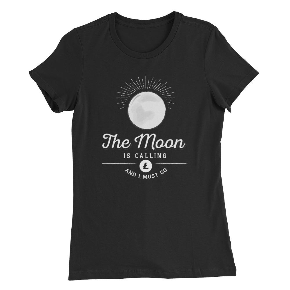 Women's Litecoin Moon (Black) - Cryptosphere