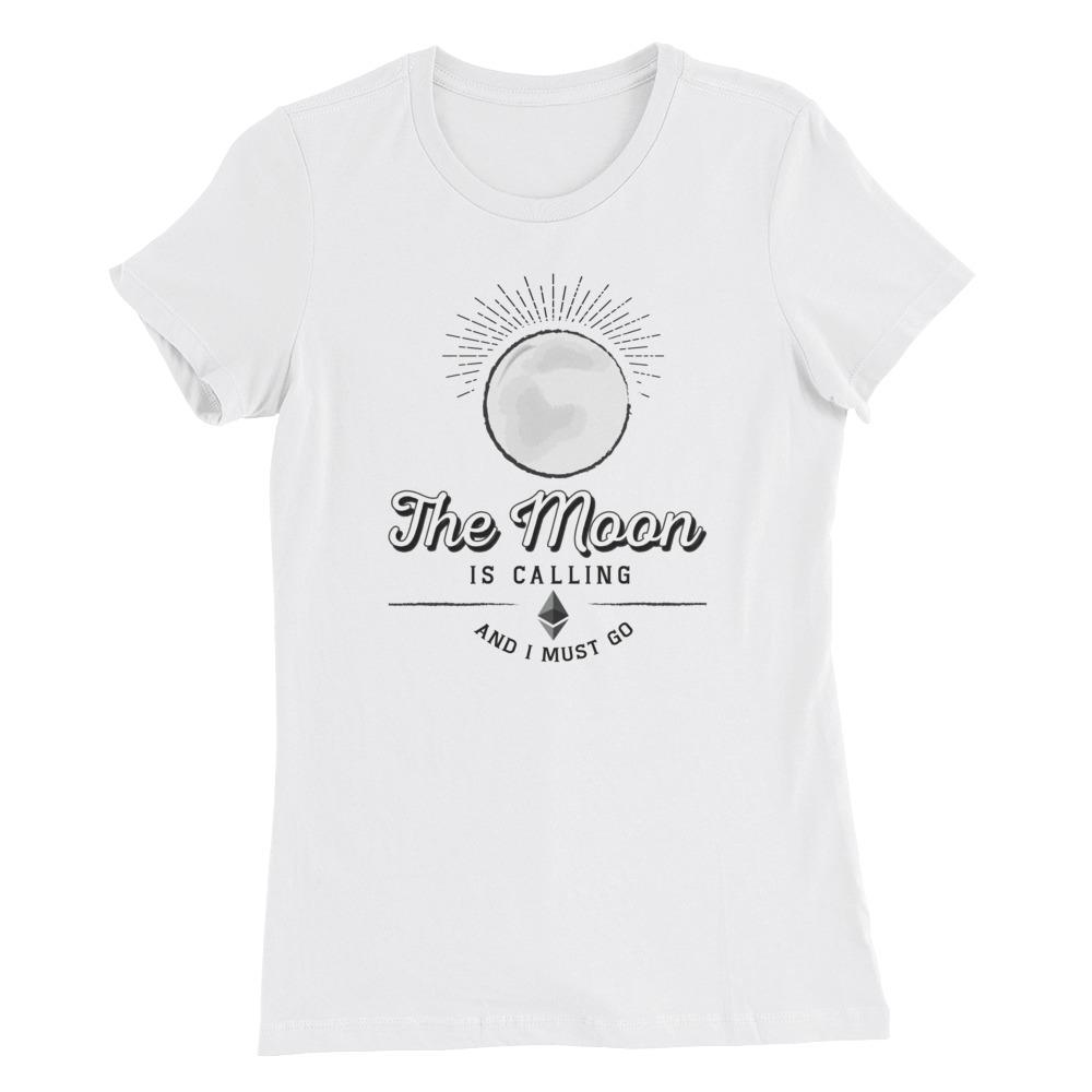 Women's Ethereum Moon (White) - Cryptosphere