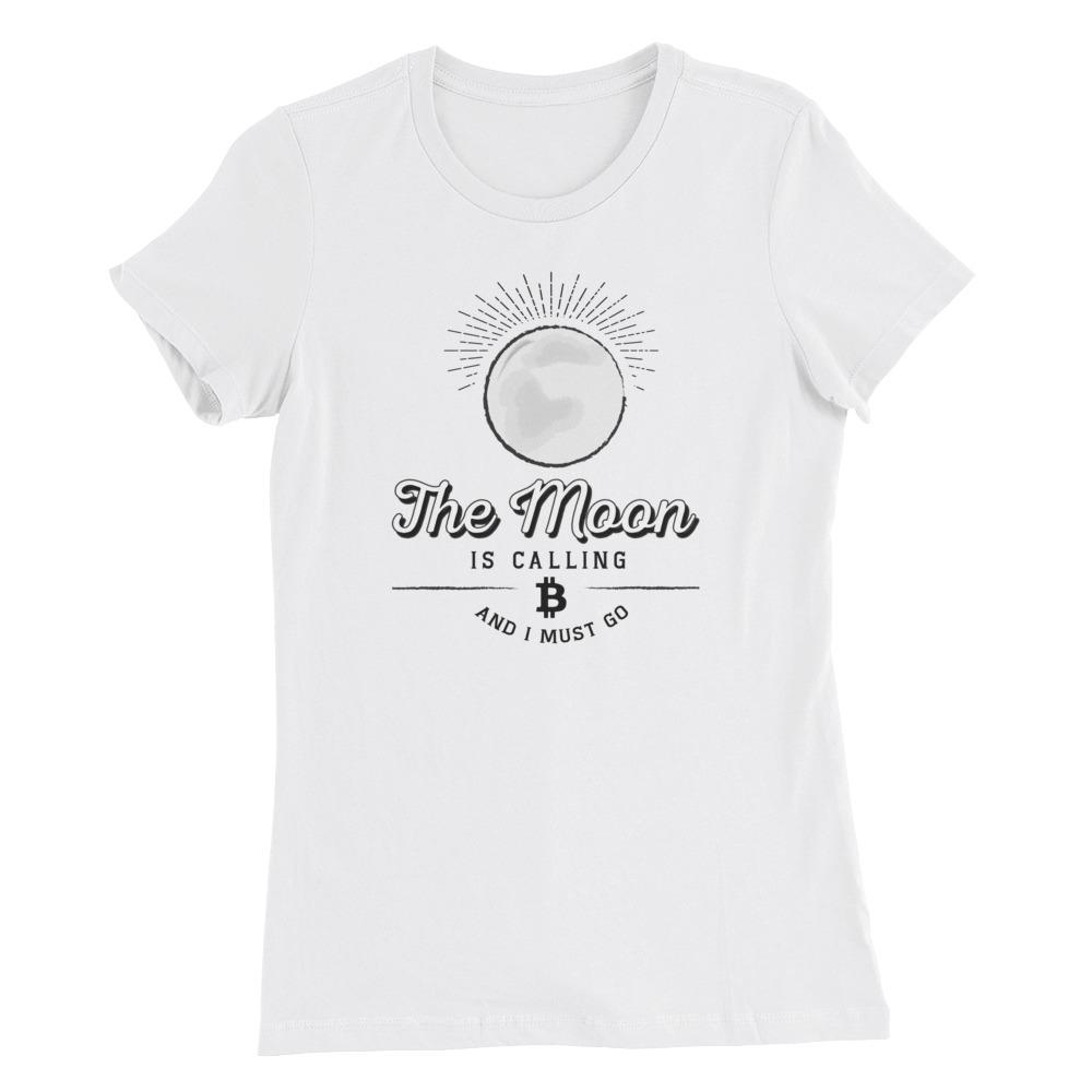 Women's Bitcoin Moon (White) - Cryptosphere