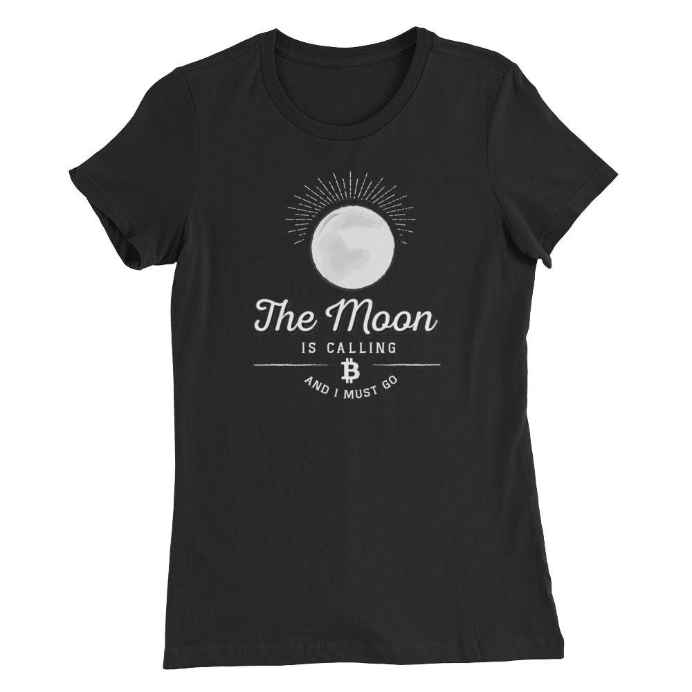 Women's Bitcoin Moon (Black) - Cryptosphere