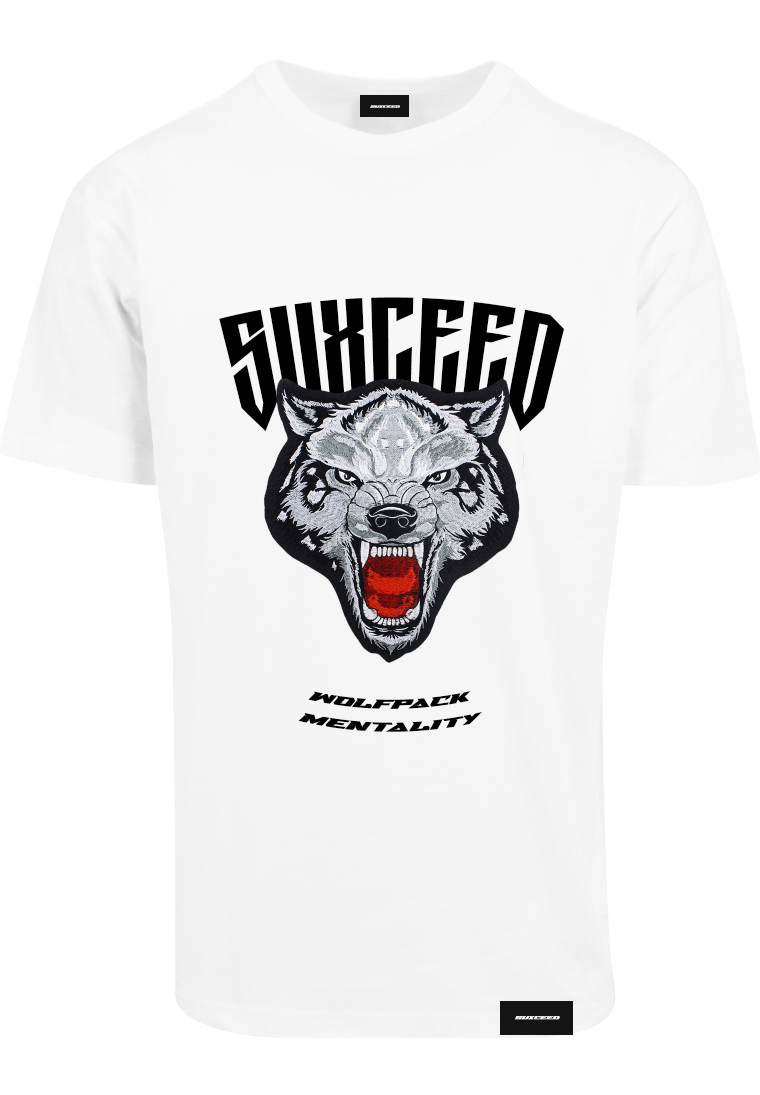 FEARLESS WOLF Oversized White Tee