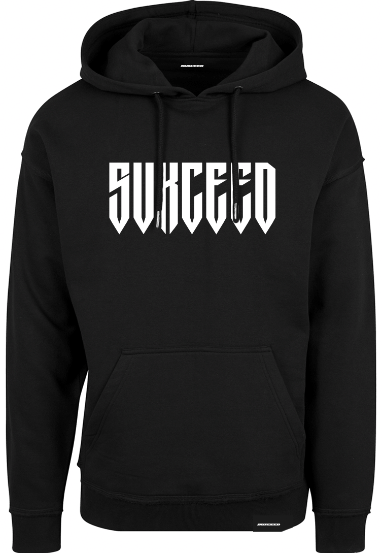 FEARLESS LOGO Oversized Black Hood