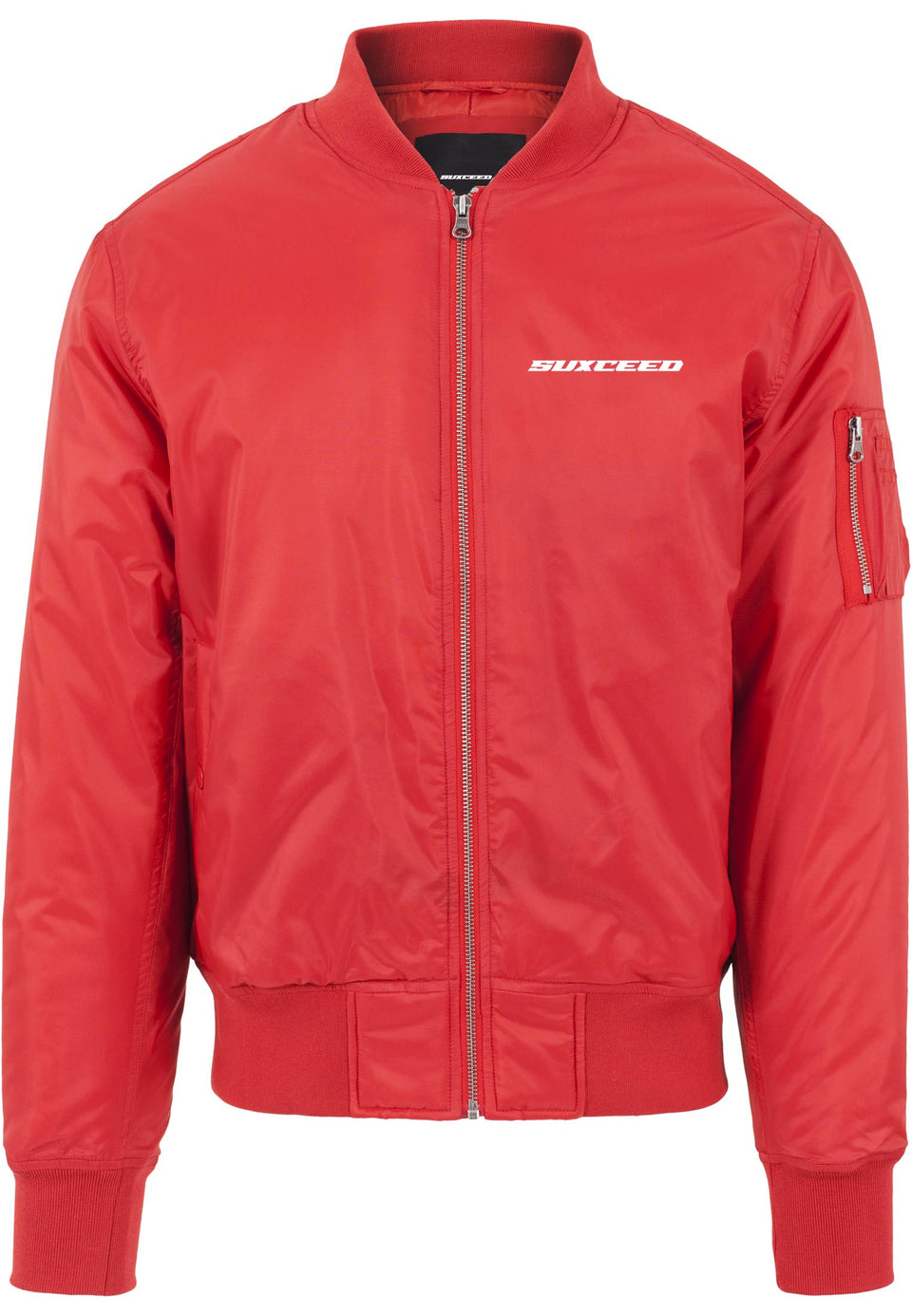 FEARLESS LOGO Red Bomber Jacket (LIMITED)