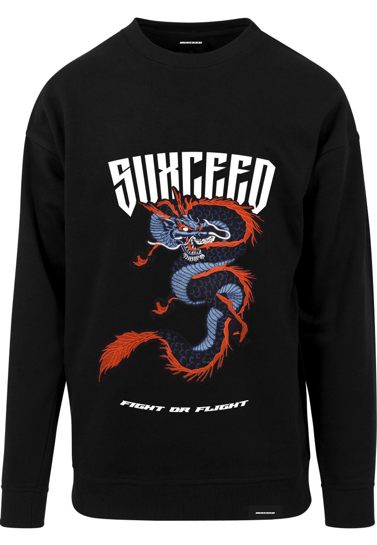 FEARLESS DRAGON Oversized Black Sweat