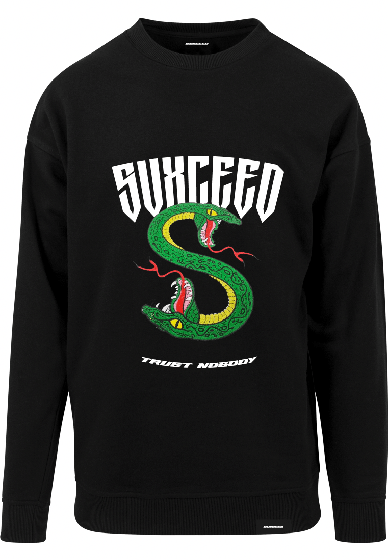 FEARLESS SNAKE Oversized Black Sweat (Pre-Order)