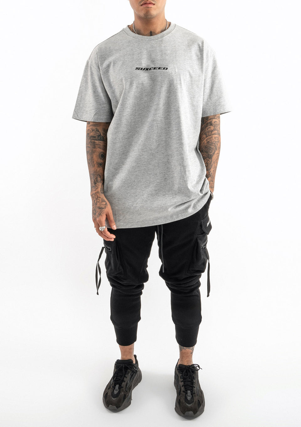 Suxceed Reflekt Oversized Tshirt (GREY)