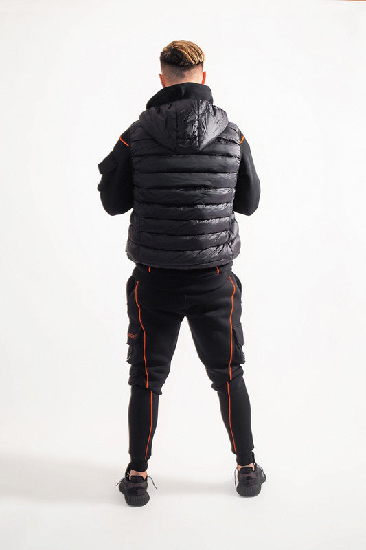 suxceed mens black gilet bodywarmer