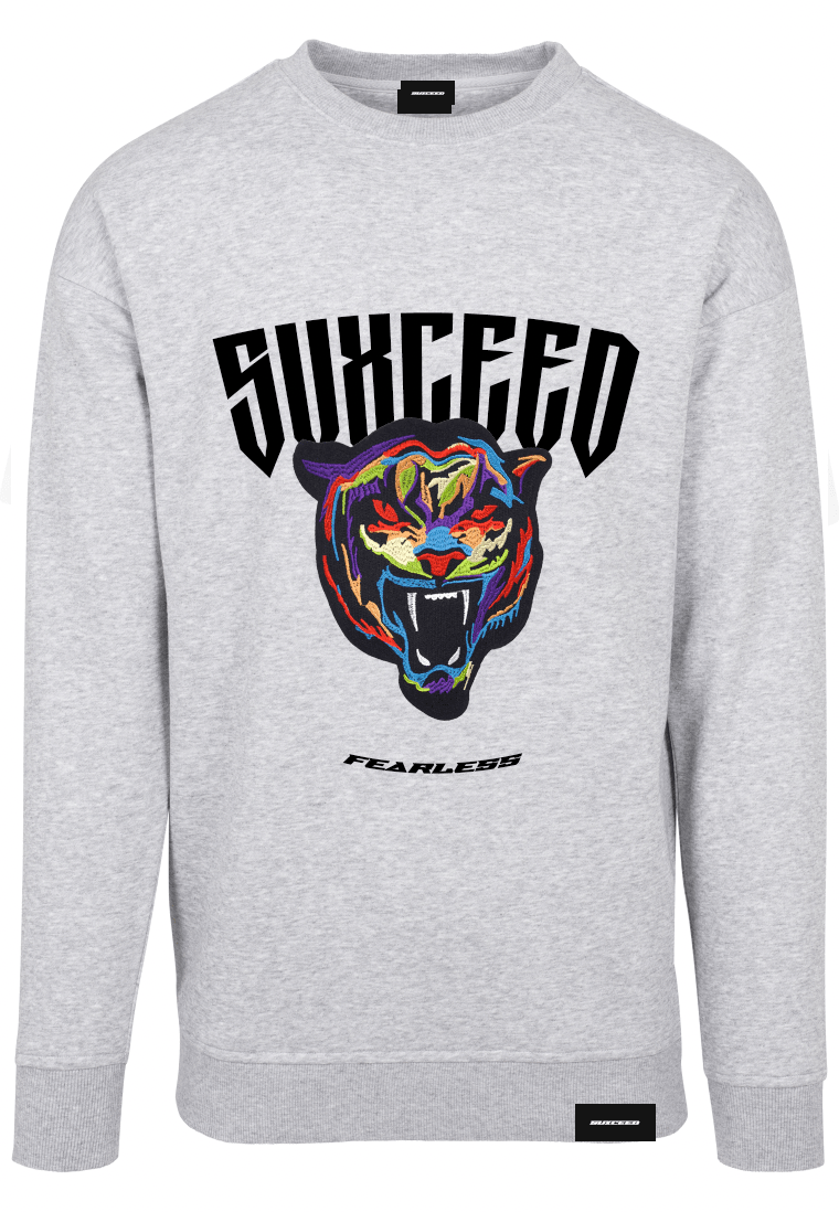 FEARLESS TIGER Oversized Grey Sweat (Pre-Order)