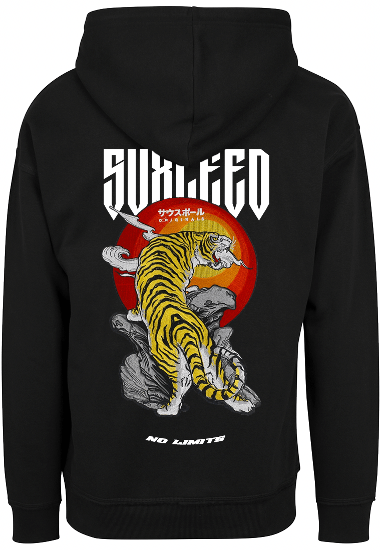 FEARLESS BENGAL TIGER Oversized Black Hood