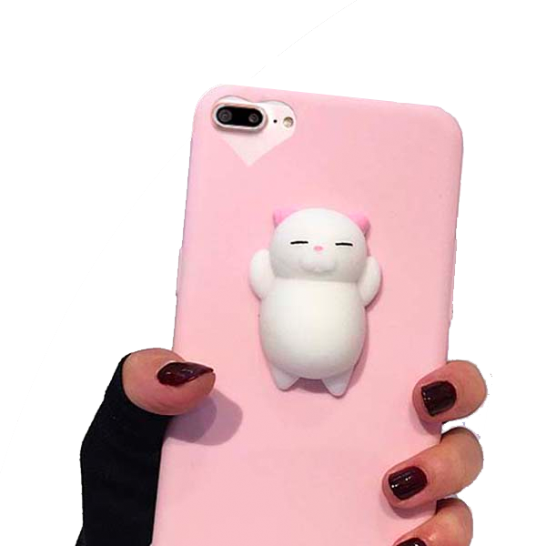 89e00b9624 Squishy Phone Case for iPhone 7 6 6s Plus Cover 3D Cute Stress Reliever Toy  Soft ...