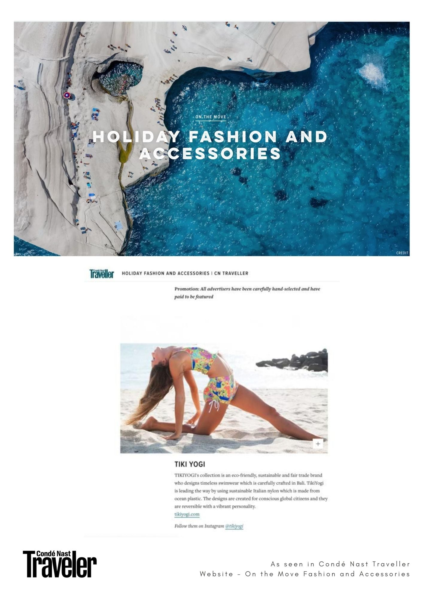 TIKIYOGI® As seen in Condé Nast Traveller Website