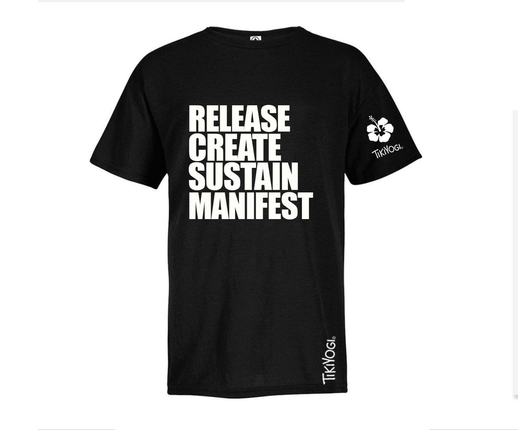 Release Create and Sustain TikiYogi Black Men's Organic T