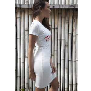 TikiYogi Off White Bamboo, Environmental Friendly Seamless Chic Dress