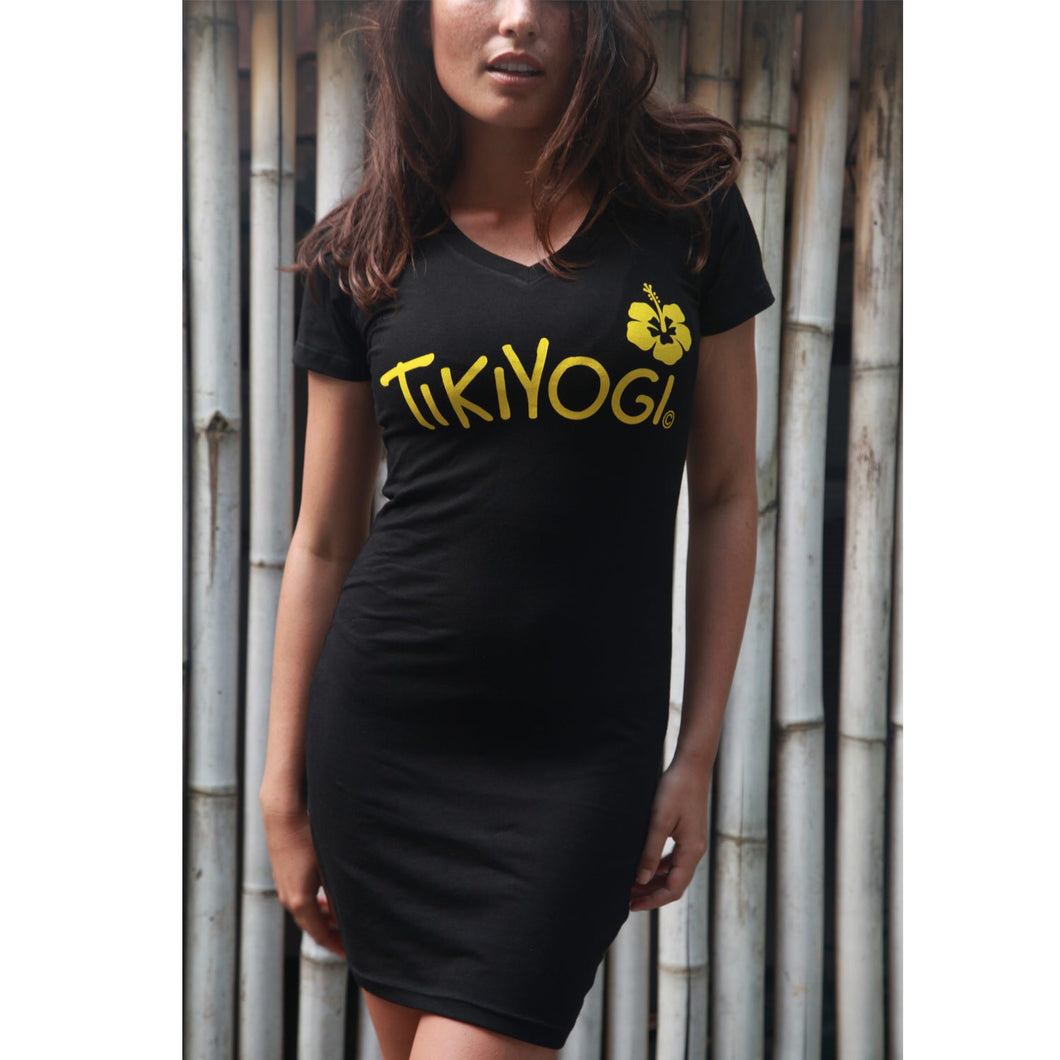 TikiYogi Black Bamboo, Environmental Friendly Seamless Chic Dress