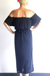 TikiYogi Black  Modal Romance Cindy Long Dress