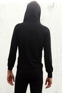 TikiYogi Black Bamboo Men's Front Zipper Hoodie