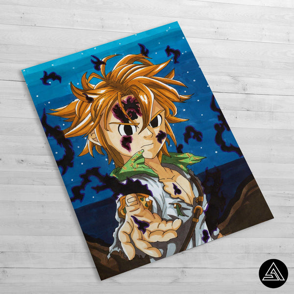 meliodas artwork huge poster