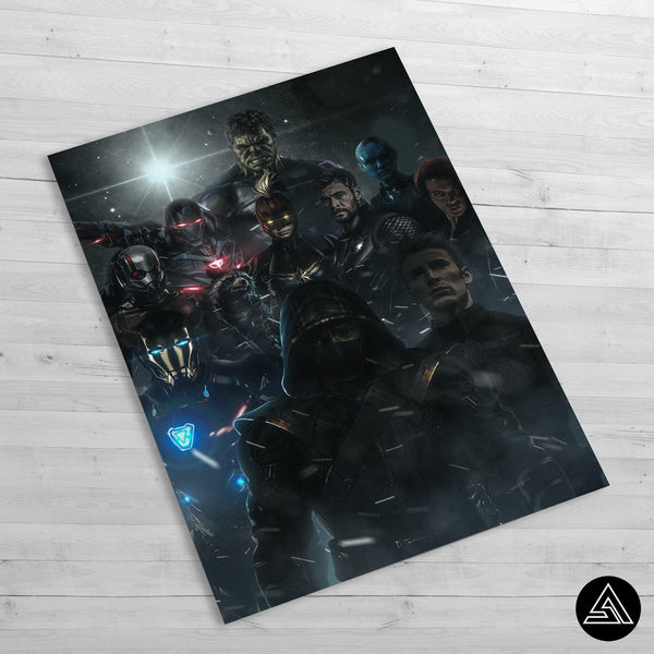 Avengers Assemble Dark - Huge Poster