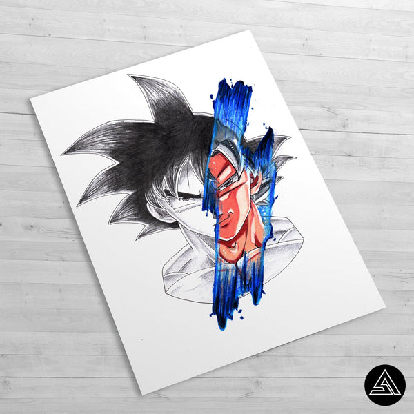 Goku Signature - Huge Poster - Sidekick ART
