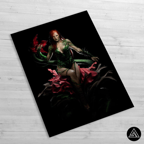 poison ivy villain wall poster