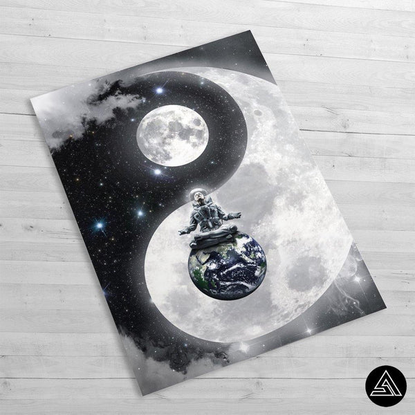 Yin & Yang in space - Huge Poster